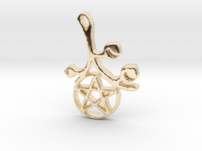 Earthly Spring Pentacle by ~M. in 14K Yellow Gold