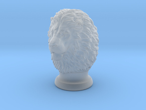 Lion Head, statuette. 10 cm in Smooth Fine Detail Plastic