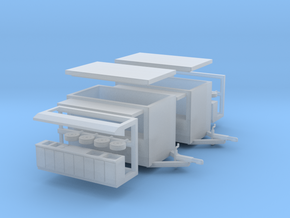 2 X Snacktrailer N-scale in Frosted Ultra Detail