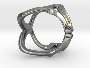 Mind generated ring - my idea of independence in Fine Detail Polished Silver: Small