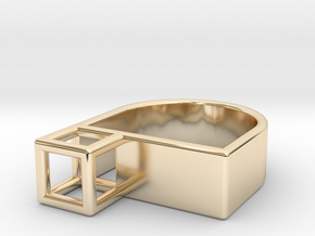 STRUCTURE Nº 4 RING in 14k Gold Plated Brass: 7 / 54