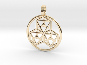 TRI-OCTAHEDRONS in 14k Gold Plated Brass