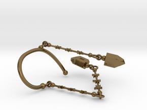 BINAH EARCUFF in Polished Bronze (Interlocking Parts)