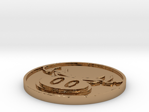 The Hate Project: HATE LOGO COIN in Polished Brass