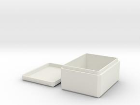 Deck Box in White Natural Versatile Plastic