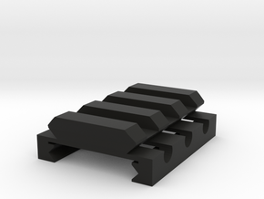 "1/4"" High 3 Slots Hybrid Picatinny/Weaver Riser in Black Natural Versatile Plastic"