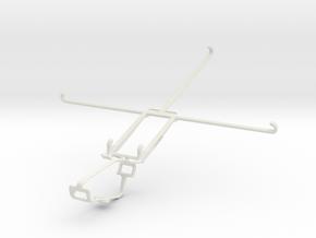 Controller mount for Xbox One & Dell Venue 10 7000 in White Natural Versatile Plastic