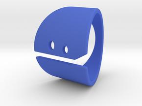 HAPPY! in Blue Processed Versatile Plastic