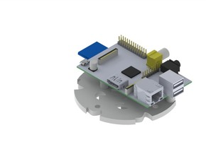 Raspberry Pi Mount in White Natural Versatile Plastic