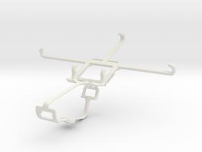Controller mount for Xbox One & Motorola Moto Z Fo in White Natural Versatile Plastic