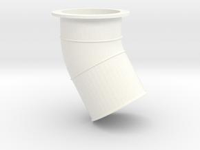 Wessex Jetpipe in White Processed Versatile Plastic