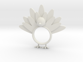 Thanksgiving Napkin Ring in White Natural Versatile Plastic