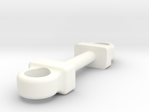 Wessex Pipe Holder Pair in White Strong & Flexible Polished