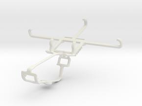 Controller mount for Xbox One & Panasonic Eluga Ar in White Natural Versatile Plastic
