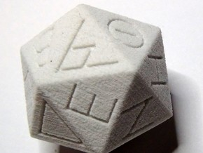 Replica Egyptian 20-Sided Die in Natural Sandstone