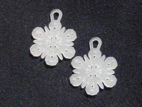 Small Snowflake Earrings in Polished Silver