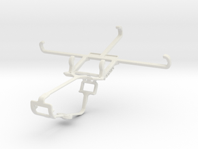 Controller mount for Xbox One & Panasonic P66 in White Natural Versatile Plastic