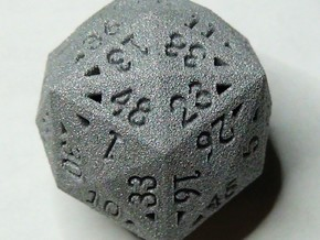 48 Sided Die - Regular in White Strong & Flexible