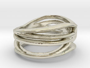 Waves Ring in 14k White Gold