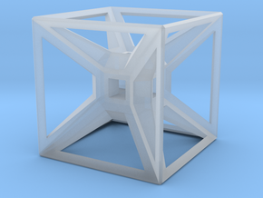 Tesseract Desk Sculpture in Smooth Fine Detail Plastic