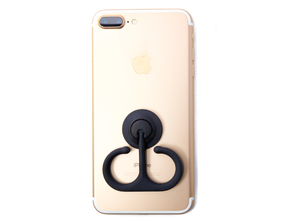 Anchor Ring Fidget Spinner Phone Stand - Stickers  in Black Strong & Flexible