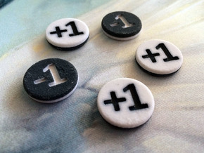 Plus/Minus Counters (Batch of 5) in Full Color Sandstone