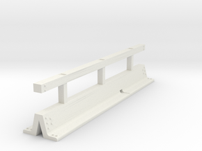 OO scale Varioguard Metal Motorway Barrier 4m leng in White Strong & Flexible