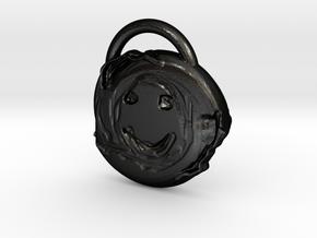 melting smile in Matte Black Steel