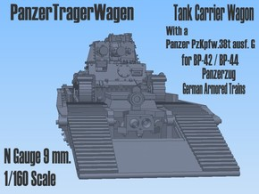 1-160 Pz-Tr-W+ PzKpfw 38t For BP-42 in Smooth Fine Detail Plastic
