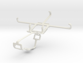 Controller mount for Xbox One & Wiko U Feel Lite in White Natural Versatile Plastic