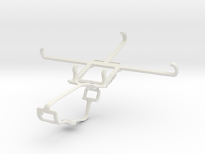Controller mount for Xbox One & Yezz Andy 5.5M LTE in White Natural Versatile Plastic