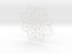 Mandala Handmade in White Natural Versatile Plastic