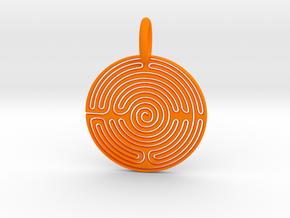 Small Labyrinth in Orange Processed Versatile Plastic