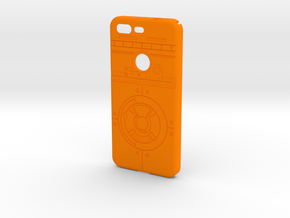 Rolling Droid Case for Google Pixel in Orange Processed Versatile Plastic