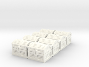 Wiz-War Chest tokens in White Strong & Flexible Polished: Medium