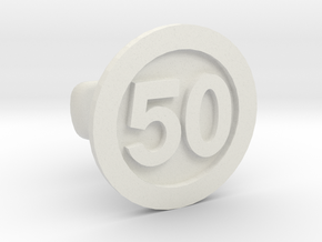 Cufflink 50 in White Natural Versatile Plastic