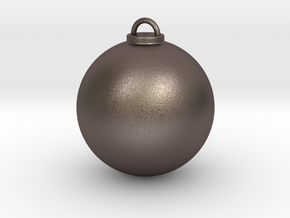 Christmas Ball Hollow - Custom in Polished Bronzed Silver Steel