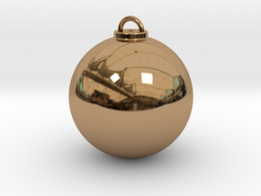 Christmas Ball Hollow - Custom in Polished Brass