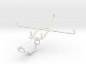 Controller mount for Xbox One & Asus Memo Pad 7 ME in White Natural Versatile Plastic