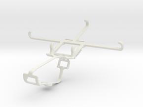 Controller mount for Xbox One & Lenovo Vibe Z2 in White Natural Versatile Plastic