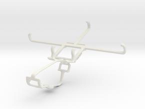 Controller mount for Xbox One & Motorola Nexus 6 in White Natural Versatile Plastic