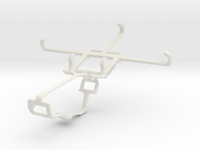 Controller mount for Xbox One & Samsung I9505 Gala in White Natural Versatile Plastic