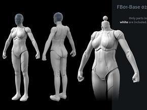 FB01-Base-02s  6inch in White Processed Versatile Plastic