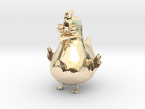 Chicken in 14k Gold Plated Brass