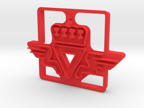 SVV Cookie Cutter in Red Processed Versatile Plastic