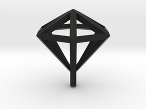 Diamant pendant in Black Natural Versatile Plastic