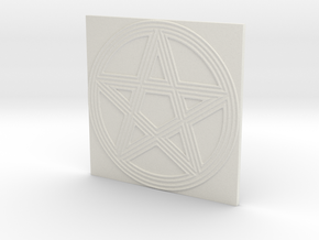 Grooved Pentacle Tile by ~M. in White Natural Versatile Plastic