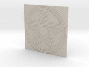 Grooved Pentacle Tile by ~M. in Natural Sandstone