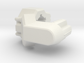 TR Galvatron Cannon Adaptor in White Strong & Flexible