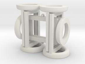 Token Frames - Set of Six in White Strong & Flexible
